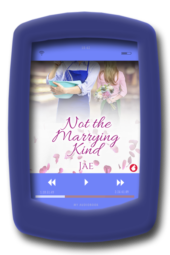 Audiobook cover of the lesbian small-town romance Not the Marrying Kind by Jae