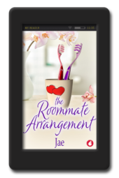 Cover for the opposites-attract lesbian romance The Roommate Arrangement by Jae