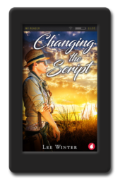 Cover of the small town lesbian romance Changing the Script by Lee Winter