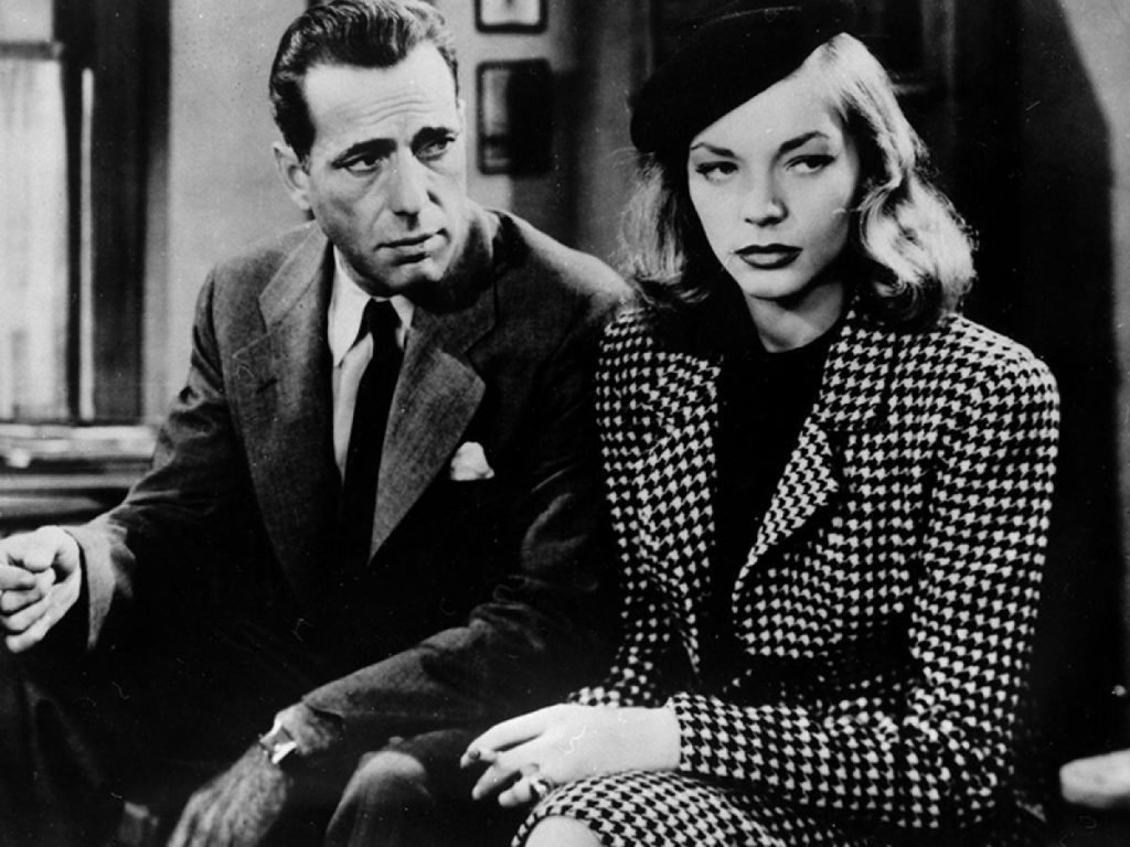 Bogart and Bacall in The Big Sleep, based on a mystery novel
