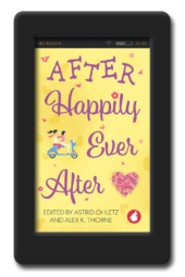 Cover of the anthology with 11 short lesbian romances After Happily Ever After - Anthology