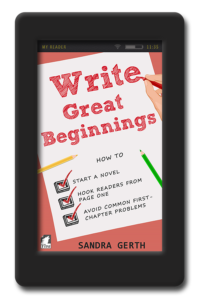 Cover of the writer's guide Write Great Beginnings by Sandra Gerth