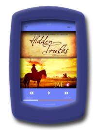 Audiobook cover of the lesbian historical romance Hidden Truths by Jae