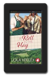 Cover of the enemies-to-lovers lesbian romance A Roll in the Hay by Lola Keeley