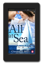 Cover of the opposites-attract lesbian romance All at Sea by Cheyenne Blue