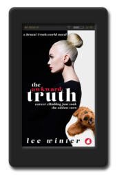Cover of the funny opposites-attract lesbian romance The Awkward Truth by Lee Winter